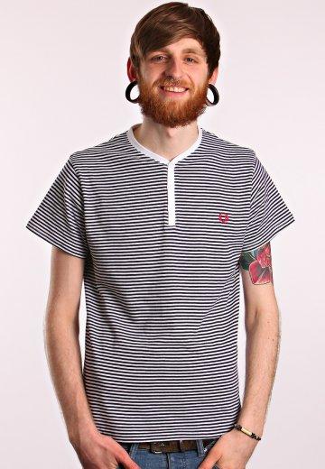 7a3b386e2ef5 Fred Perry - Striped Y Neck Carbon Blue - T-Shirt - Streetwear Shop -  Impericon.com AU