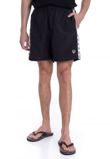 Fred Perry - Taped Black - Board Shorts