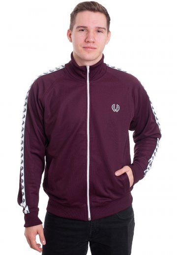 05bc5bd8d11d6 Fred Perry - Taped Mahogany - Track Jacket - Streetwear Shop ...