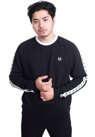 Fred Perry - Taped Crew Neck Black - Sweater