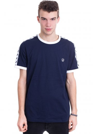 Fred Perry - Taped Ringer Carbon Blue - T-Shirt