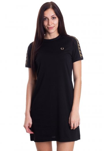 Fred Perry - Taped Ringer Black - Dress