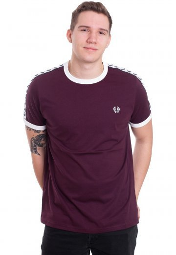 Fred Perry - Taped Ringer Mahogany - T-Shirt