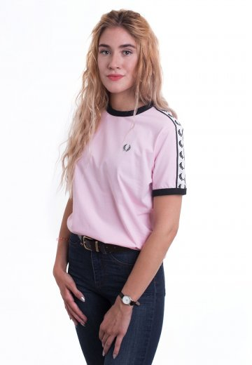 Fred Perry - Taped Ringer Pink - T-Shirt