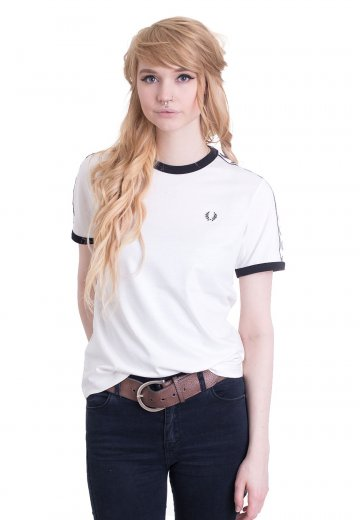 Fred Perry - Taped Ringer Snow White - Girly