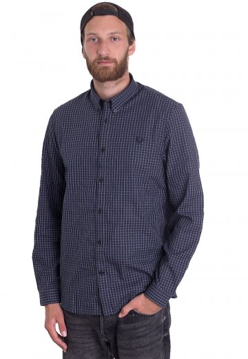 Fred Perry - Three-Colour Basketweave Medieval Blue - Shirt