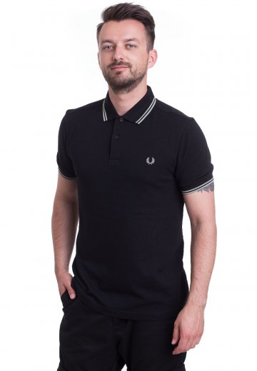Fred Perry - Twin Tipped Black/Pale Olive - Polo