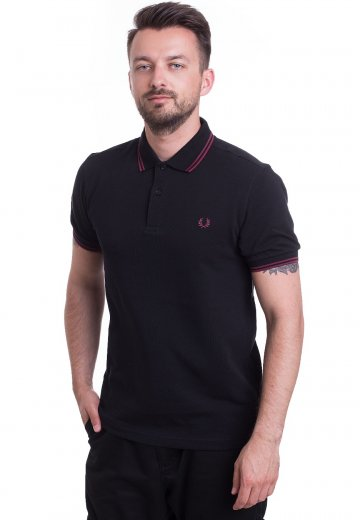 Fred Perry - Twin Tipped Black/Crushed Berry - Polo