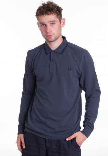 a28478c7f3be Fred Perry - Twin Tipped Dark Airforce Black - Longsleeve ...