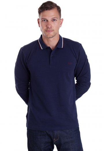 443cf7a7b4970 Fred Perry - Twin Tipped Carbon Blue/Ecru/Mahogany - Longsleeve -  Streetwear Shop - Impericon.com AU