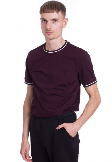 Fred Perry - Twin Tipped Deep Mahogany - T-Shirt