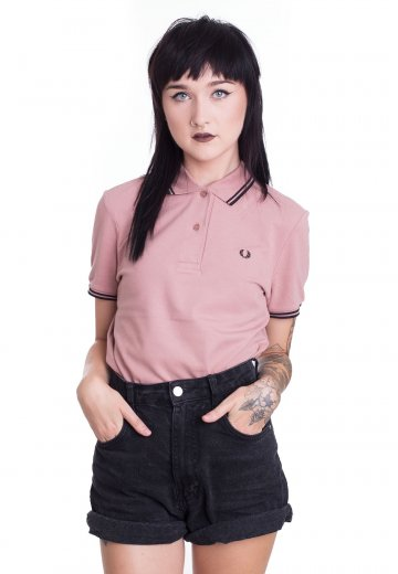 Fred Perry - Twin Tipped Grey Pink/Black - Polo
