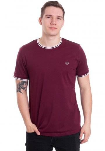 Fred Perry - Twin Tipped Aubergine - T-Shirt