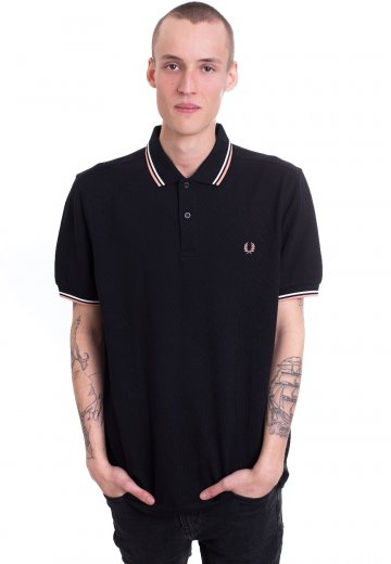 Fred Perry - Twin Tipped Black/Ecru/Nectar - Polo