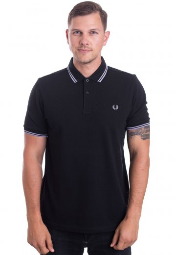 Fred Perry - Twin Tipped Black/Fresh Lilac - Polo
