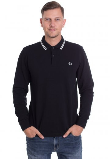 Fred Perry - Twin Tipped Black/Porcelain/Porcelain - Longsleeve