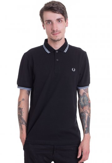 Fred Perry - Twin Tipped Black/Sky - Polo