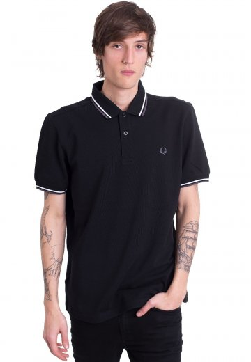 Fred Perry - Twin Tipped Black/White/Ice Slate - Polo