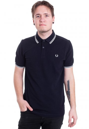 bca482f7 Fred Perry - Twin Tipped Carbon Blue/Black Oxford - Polo - Streetwear Shop  - Impericon.com AU