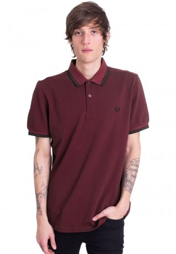dfc00fe32 Fred Perry - Twin Tipped Claret Mahogany Oxford - Polo - Streetwear ...