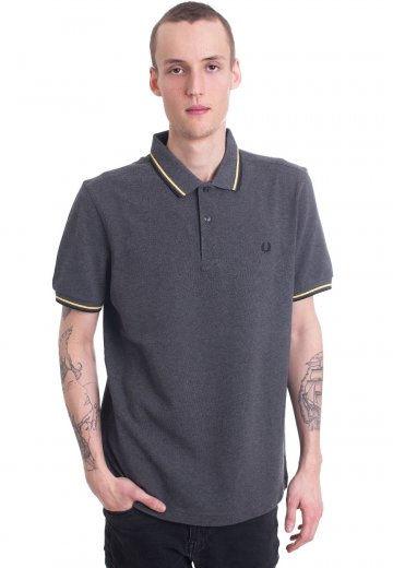 Fred Perry - Twin Tipped Graphite Marl/1964 Yellow/Black - Polo