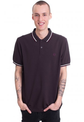 Fred Perry - Twin Tipped Liquorice/Snow White/Mahogany - Polo