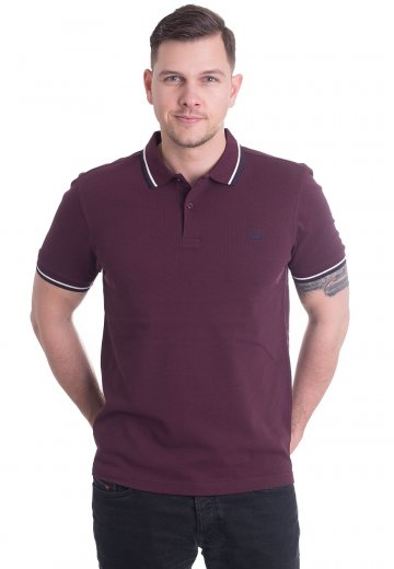 Fred Perry - Twin Tipped Mahogany/Snow White/Carbon Blue - Polo