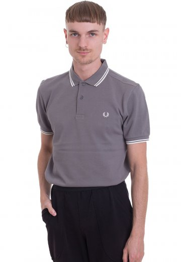 Fred Perry - Twin Tipped Mid Grey - Polo
