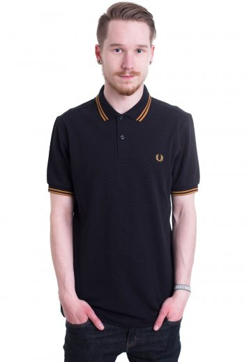 a0bfe731 Fred Perry - Twin Tipped Navy/Burnt Amber - Polo - Streetwear Shop -  Impericon.com US