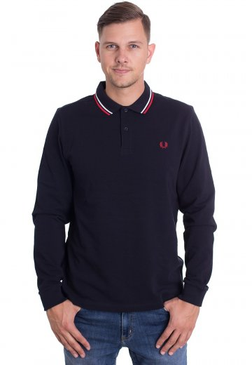 Fred Perry - Twin Tipped Navy/White/Red - Longsleeve