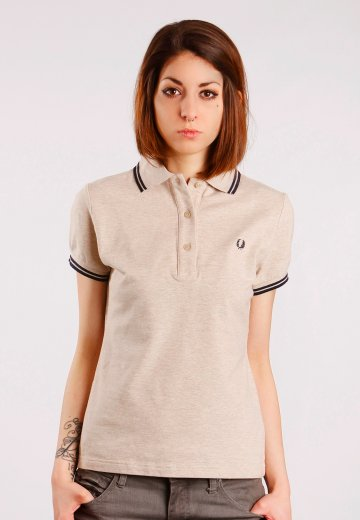 42de34d7 Fred Perry - Twin Tipped Sand Marl - Girl Polo - Streetwear Shop -  Impericon.com Worldwide