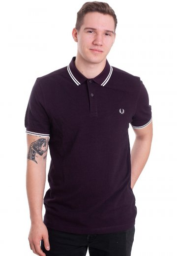 80ca67f3 Fred Perry - Twin Tipped Shiraz/Black Oxford - Polo - Streetwear ...