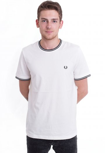 Fred Perry - Twin Tipped Snow White - T-Shirt