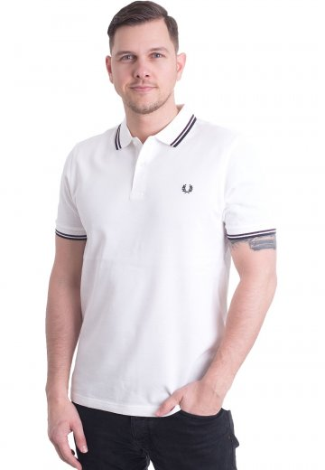 Fred Perry - Twin Tipped Snow White/Mulberry/Navy - Polo