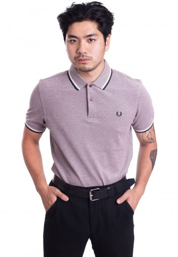 Fred Perry - Twin Tipped Stadium Red Oxford/Ecru/Black - Polo