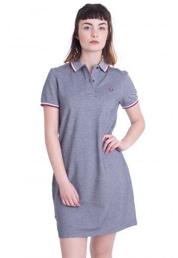Fred Perry - Twin Tipped Fred Perry Carbon Blue Oxford - Dress