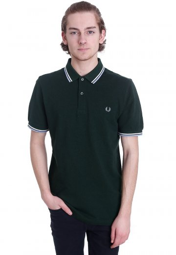 Fred Perry - Twin Tipped Fred Perry Ivy Black Oxford/Snow White/Glacier - Polo