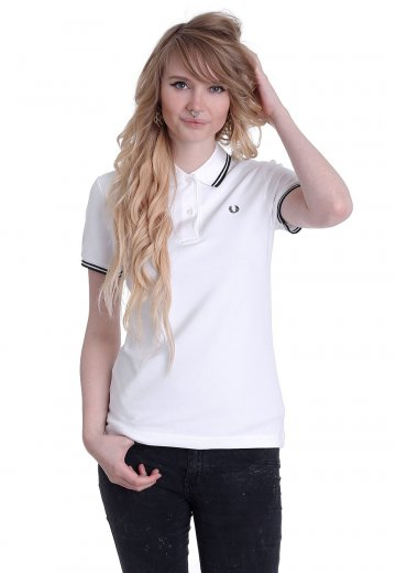 Fred Perry - Twin Tipped Fred Perry White/Black/Black - Polo