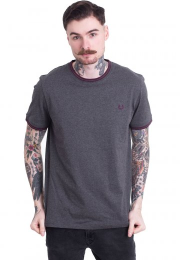 Fred Perry - Twin Tipped Ringer Graphite Marl - T-Shirt