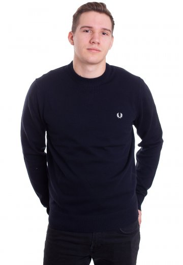 Fred Perry - V Insert Navy - Sweater