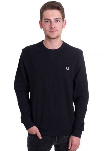 Fred Perry - Waffle Crew Neck Navy - Sweater