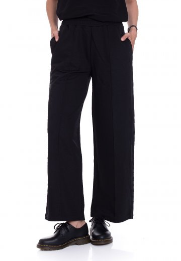 Fred Perry - Wide Leg Taped Track Black - Pants