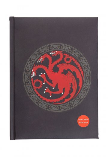Game Of Thrones - Targaryen With Light - Notebook