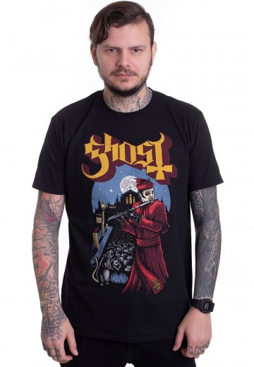 32460d01aefa Ghost - Advancing Pied Piper - T-Shirt - Official Hard And Heavy  Merchandise Shop - Impericon.com US