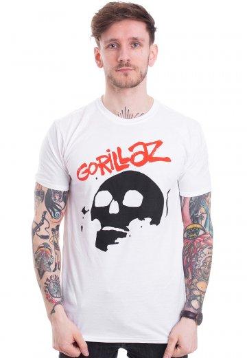 Gorillaz - Skull White - T-Shirt