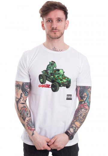 Gorillaz - Tank White - T-Shirt