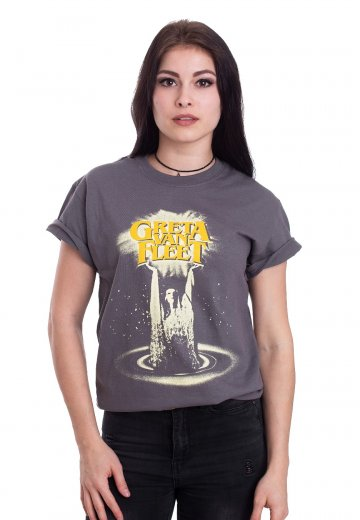 100% original retail prices uk cheap sale Greta Van Fleet - Cinematic Lights Grey - T-Shirt