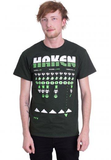 Haken Level Forest Green T Shirt Official Alternative Rock