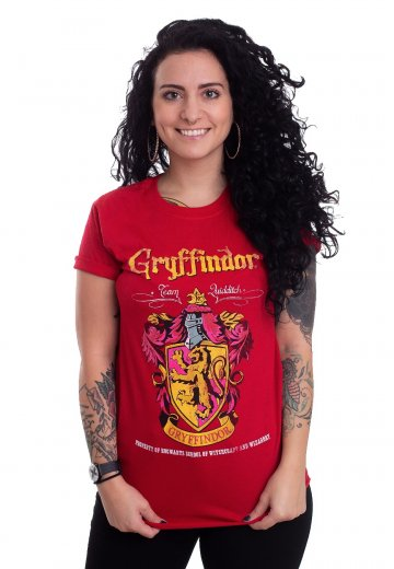 ba1d43334b1 Harry Potter - Gryffindor Quidditch Red - T-Shirt - Impericon.com AU