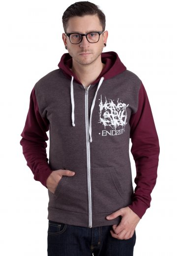Heaven Shall Burn - Endzeit Charcoal/Burgundy - Zipper